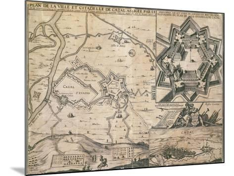 Map of Casale Monferrato, Piedmont Region, and its Citadel During the Siege in 1630--Mounted Giclee Print