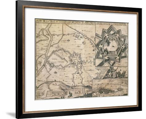 Map of Casale Monferrato, Piedmont Region, and its Citadel During the Siege in 1630--Framed Art Print