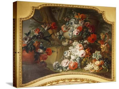 Decorative Panel with Floral Motifs, Stupinigi's Little Hunting Palace--Stretched Canvas Print