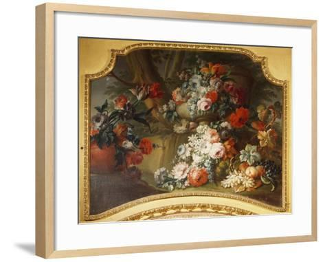 Decorative Panel with Floral Motifs, Stupinigi's Little Hunting Palace--Framed Art Print