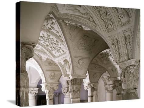 Architectonic Detail from Interior of Parish Church of Blera, Lazio, Italy--Stretched Canvas Print
