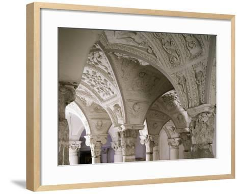 Architectonic Detail from Interior of Parish Church of Blera, Lazio, Italy--Framed Art Print
