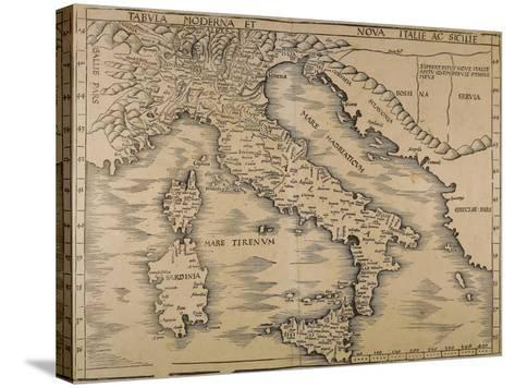 Map of Italy, from Geographiae Opus Novissima--Stretched Canvas Print