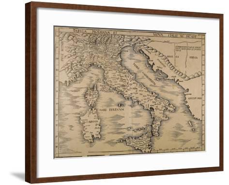 Map of Italy, from Geographiae Opus Novissima--Framed Art Print
