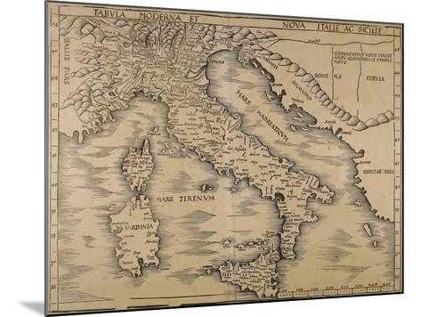 Map of Italy, from Geographiae Opus Novissima--Mounted Giclee Print