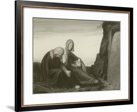 Behold the Place Where They Laid Him--Framed Art Print