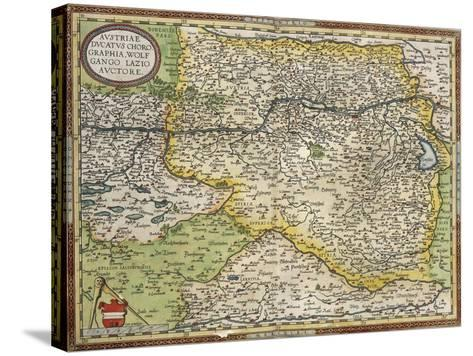 Map of Austria, from Theatrum Orbis Terrarum--Stretched Canvas Print