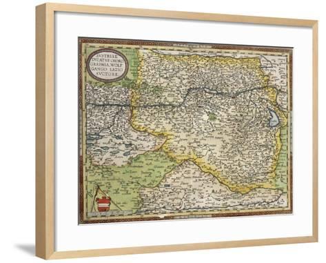 Map of Austria, from Theatrum Orbis Terrarum--Framed Art Print