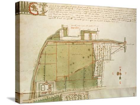 Map of Country Estates in the Town of Castelnuovo Di Sotto, Reggio Emilia--Stretched Canvas Print