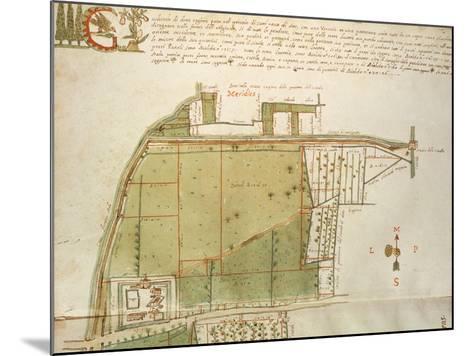 Map of Country Estates in the Town of Castelnuovo Di Sotto, Reggio Emilia--Mounted Giclee Print