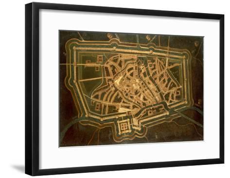 Map of Treviso, Italy--Framed Art Print