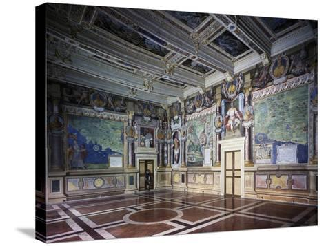 Royal or Hercules Hall with Frescoes, Hercules Hally Baldassare Croce--Stretched Canvas Print