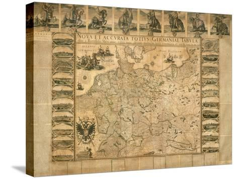 New and Accurate Illustration of Germany in its Entirety--Stretched Canvas Print