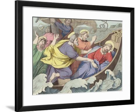 The Tempest on the Sea--Framed Art Print