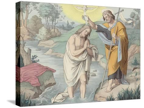 Jesus Baptised--Stretched Canvas Print