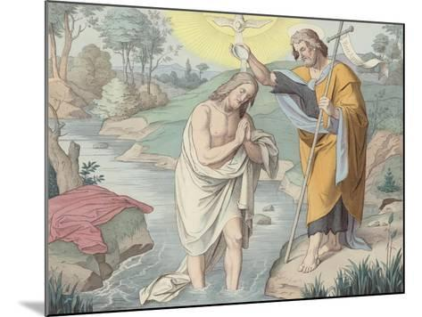 Jesus Baptised--Mounted Giclee Print