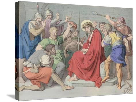 Jesus Is Crowned with Thorns--Stretched Canvas Print