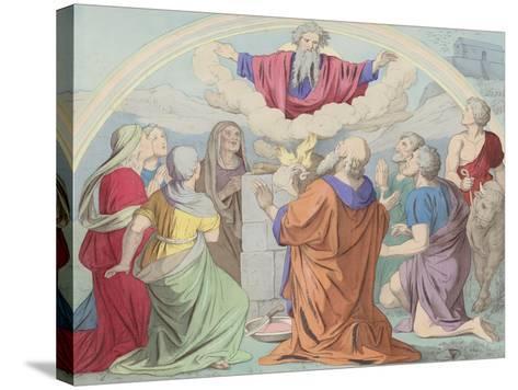 The Sacrifice of Noah--Stretched Canvas Print