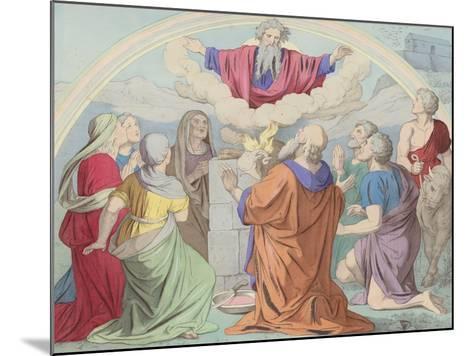 The Sacrifice of Noah--Mounted Giclee Print
