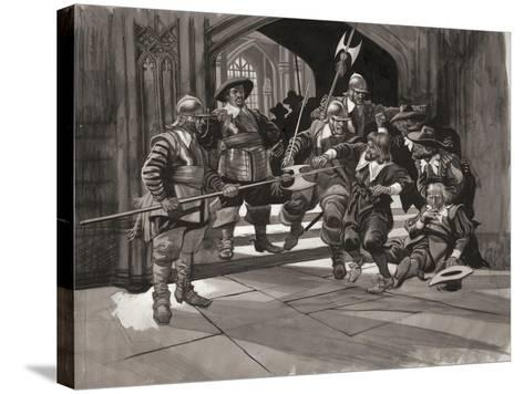 Colonel Pride Refusing Entrance of Certain Members of the House of Commons--Stretched Canvas Print