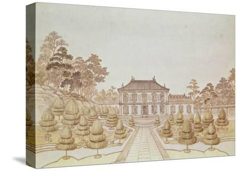 One of the 36 Palaces of the Emperor at Yuen Ming Yuen, Built by Benoit in 1750--Stretched Canvas Print