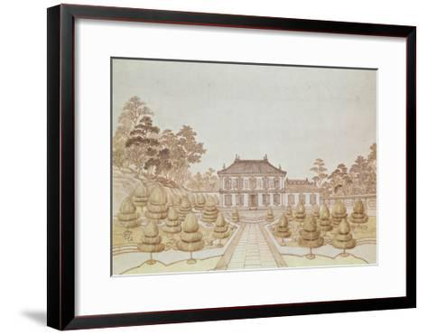 One of the 36 Palaces of the Emperor at Yuen Ming Yuen, Built by Benoit in 1750--Framed Art Print
