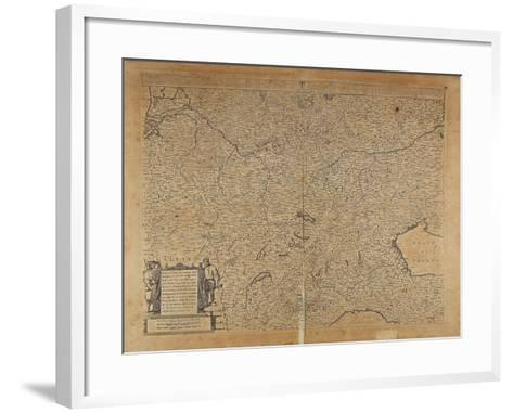 Central-Northern Europe and Northern Italy, Map by Frederik De Wit, Amsterdam--Framed Art Print