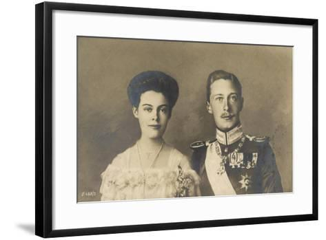 Cecilie Und Friedrich Wilhelm Von Preußen, Portrait--Framed Art Print