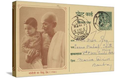 Mahatma Gandhi--Stretched Canvas Print