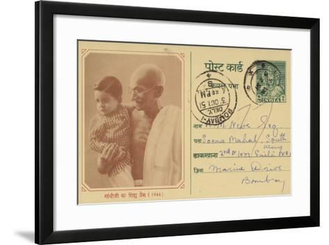 Mahatma Gandhi--Framed Art Print