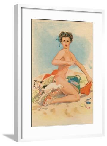 Bikini Mishap--Framed Art Print