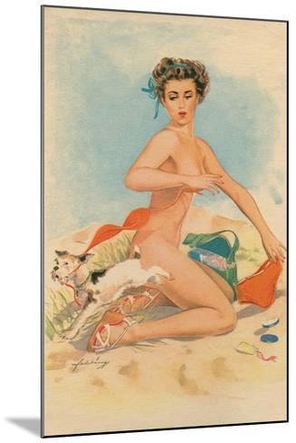 Bikini Mishap--Mounted Giclee Print