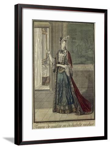 Gentlewoman in Dressing Gown--Framed Art Print