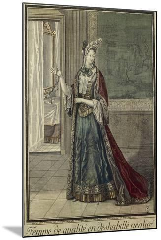 Gentlewoman in Dressing Gown--Mounted Giclee Print