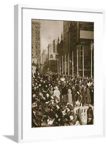 When Peace Came, 1918--Framed Art Print