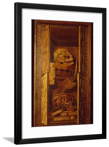Wood Panel from Choir Stalls of Duomo or Cathedral Basilica of Assumption of Blessed Virgin Mary--Framed Art Print