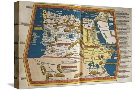 Africa and Unknown Southern Land, from Claudius Ptolemy's Cosmographia--Stretched Canvas Print
