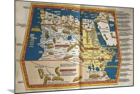 Africa and Unknown Southern Land, from Claudius Ptolemy's Cosmographia--Mounted Giclee Print