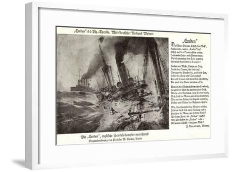 Kriegsschiff Emden Versenkt Engl. Handelsdampfer--Framed Art Print