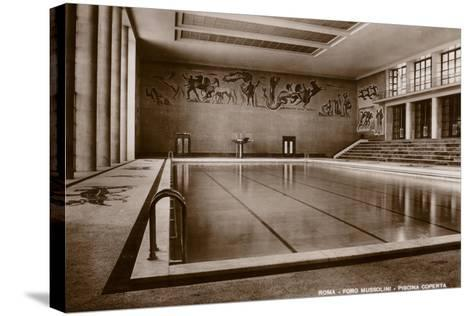 Indoor Swimming Pool, Foro Mussolini, Rome--Stretched Canvas Print