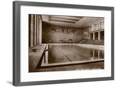 Indoor Swimming Pool, Foro Mussolini, Rome--Framed Art Print