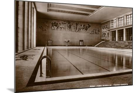 Indoor Swimming Pool, Foro Mussolini, Rome--Mounted Photographic Print