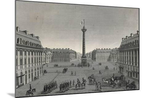 France, Paris, View of Place Vendome--Mounted Giclee Print