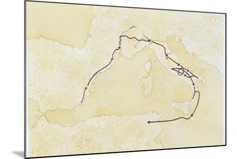 Map of the Western Mediterranean Area--Mounted Giclee Print