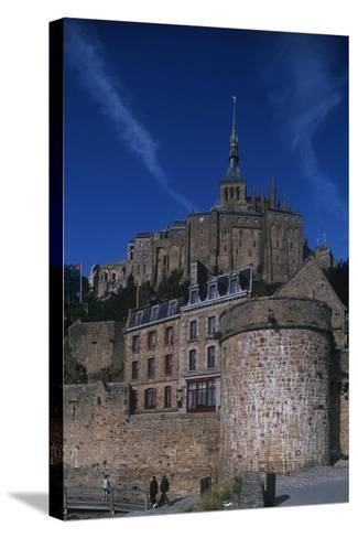 France, Normandy, Abbey at Le Mont-Saint-Michel--Stretched Canvas Print