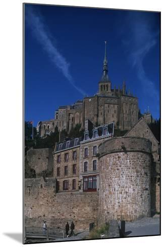 France, Normandy, Abbey at Le Mont-Saint-Michel--Mounted Giclee Print