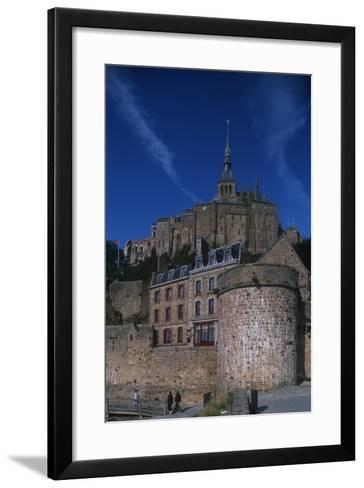 France, Normandy, Abbey at Le Mont-Saint-Michel--Framed Art Print