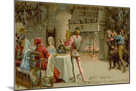 Christmas Dinner in 15th Century Germany--Mounted Giclee Print