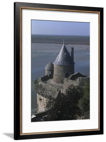 France, Normandy, Ramparts of Le Mont-Saint-Michel--Framed Art Print