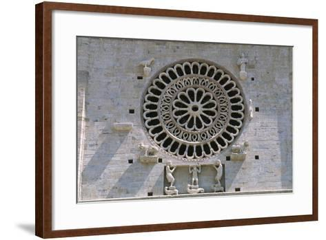 Italy, Umbria, Assisi, Cathedral of San Rufino, Detail of Facade--Framed Art Print